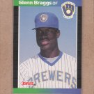 1989 Donruss Baseball Glenn Braggs Brewers #103