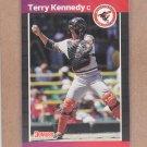 1989 Donruss Baseball Terry Kennedy Orioles #141