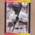 1989 Donruss Baseball Dave Parker A's #150