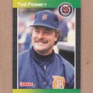 1989 Donruss Baseball Ted Power Tigers #153