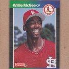 1989 Donruss Baseball Willie McGee Cardinals #161