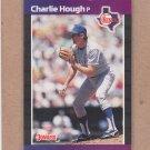 1989 Donruss Baseball Charlie Hough Rangers #165