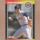 1989 Donruss Baseball Doyle Alexander Tigers #178