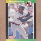 1989 Donruss Baseball Devon White Angels #213