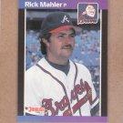 1989 Donruss Baseball Rick Mahler Braves #222