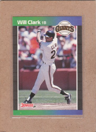 1989 Donruss Baseball Will Clark Giants #249