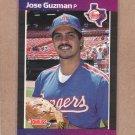 1989 Donruss Baseball Jose Guzman Rangers #284