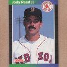 1989 Donruss Baseball Jody Reed Red Sox #305