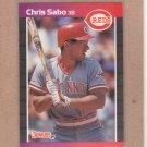 1989 Donruss Baseball Chris Sabo RC Reds #317
