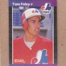 1989 Donruss Baseball Tom Foley Expos #342