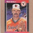 1989 Donruss Baseball Rick Schu Orioles #406