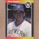 1989 Donruss Baseball Chris Bosio Brewers #412
