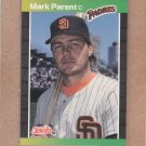 1989 Donruss Baseball Mark Parent Padres #420