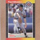 1989 Donruss Baseball Paul Gibson Tigers #445