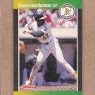 1989 Donruss Baseball Dave Henderson A's #450