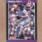 1989 Donruss Baseball Bobby Witt Rangers #461