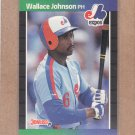 1989 Donruss Baseball Wallace Johnson Expos #484