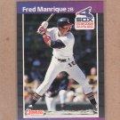 1989 Donruss Baseball Fred Manrique White Sox #489