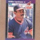 1989 Donruss Baseball Willie Upshaw Indians #492