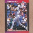 1989 Donruss Baseball Jeff Kunkel Rangers #496