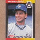 1989 Donruss Baseball Mike Birkbeck Brewers #501