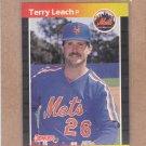1989 Donruss Baseball Terry Leach Mets #502