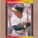 1989 Donruss Baseball Doug Jennings A's #505