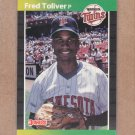 1989 Donruss Baseball Fred Toliver Twins #510