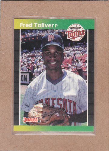 1989 Donruss Baseball Fred Toliver Twins #510