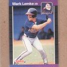 1989 Donruss Baseball Mark Lemke RC Braves #523