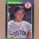 1989 Donruss Baseball Wes Gardner Red Sox #541