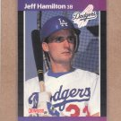 1989 Donruss Baseball Jeff Hamilton Dodgers #550