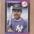 1989 Donruss Baseball Luis Aguayo Yankees #551
