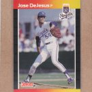 1989 Donruss Baseball Jose DeJesus Royals #558