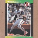 1989 Donruss Baseball Willie Fraser Angels #567