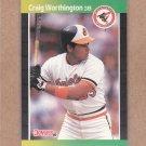 1989 Donruss Baseball Craig Worthington Orioles #569