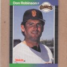 1989 Donruss Baseball Don Robinson Giants #571