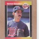 1989 Donruss Baseball German Gonzalez Twins #590