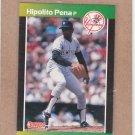 1989 Donruss Baseball Hipolito Pena Yankees #598