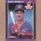 1989 Donruss Baseball Scott Jordan RC Indians #609