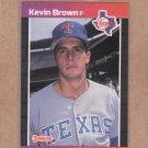 1989 Donruss Baseball Kevin Brown Rangers #613