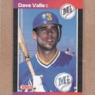 1989 Donruss Baseball Dave Valle Mariners #614