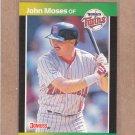 1989 Donruss Baseball John Moses Twins #626