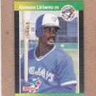 1989 Donruss Baseball Nelson Liriano Blue Jays #627
