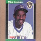1989 Donruss Baseball Mike Young Brewers #632
