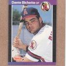 1989 Donruss Baseball Dante Bichette RC Angels #634