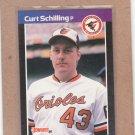 1989 Donruss Baseball Curt Schilling RC Orioles #635