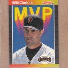 1989 Donruss Baseball MVP Will Clark #BC-22