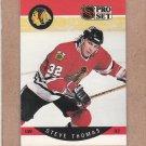 1990 Pro Set Hockey Steve Thomas Blackhawks #62