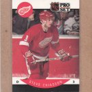 1990 Pro Set Hockey Steve Chiasson Red Wings #69